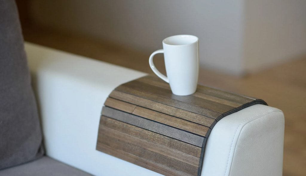 Sofa Tray Table for Coffee lovers