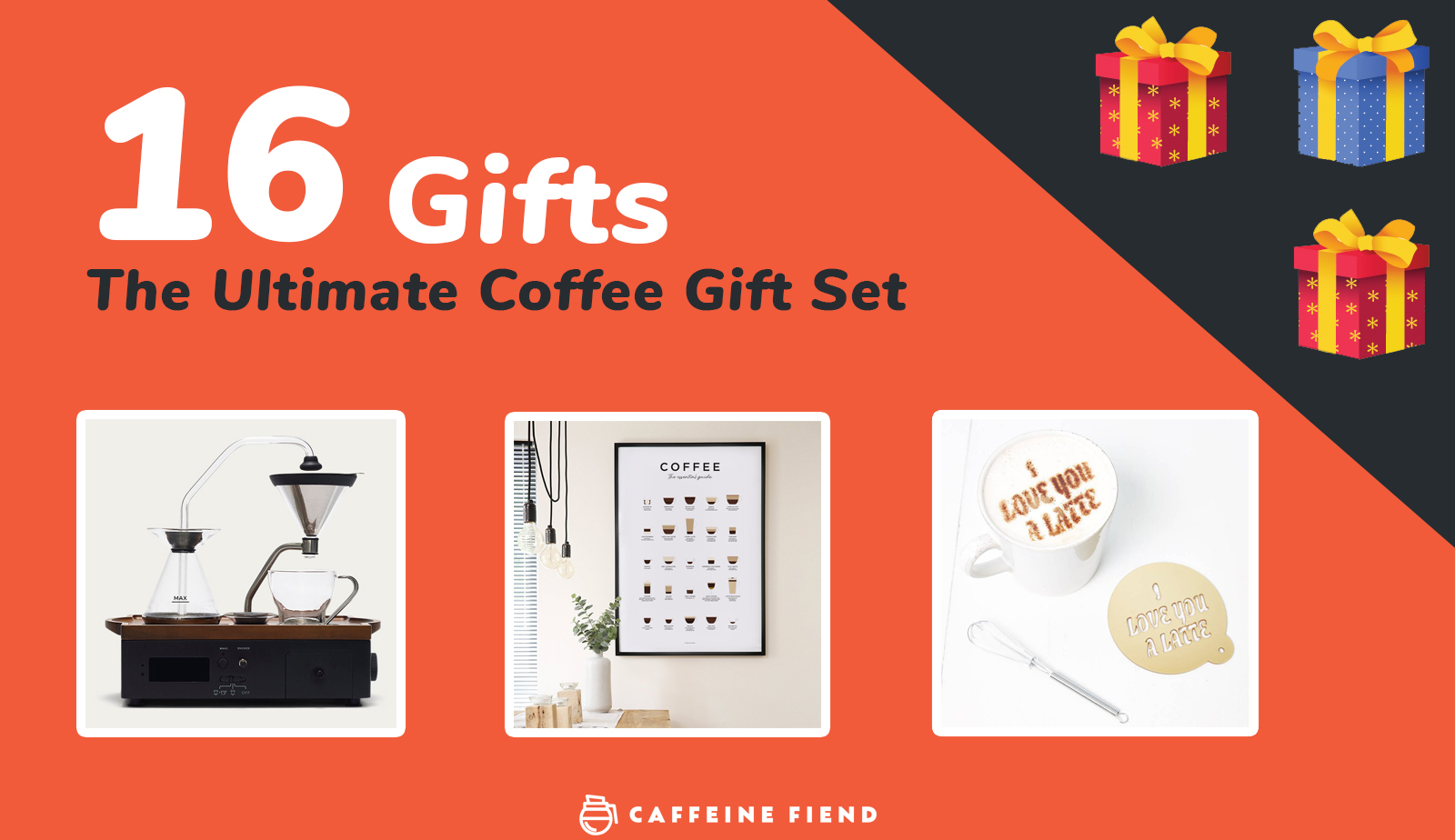 The Ultimate coffee gift set - 16 coffee gifts