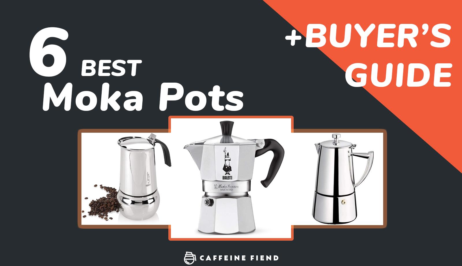 the 6 best moka pots ranked on caffeinefiend.co