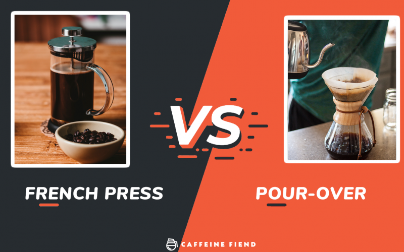 French Press vs Pour Over Article on Caffeine Fiend