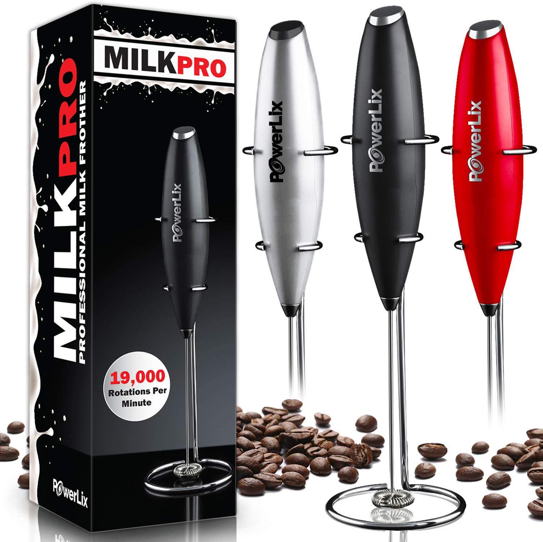 Powerlix handheld battery milk frother