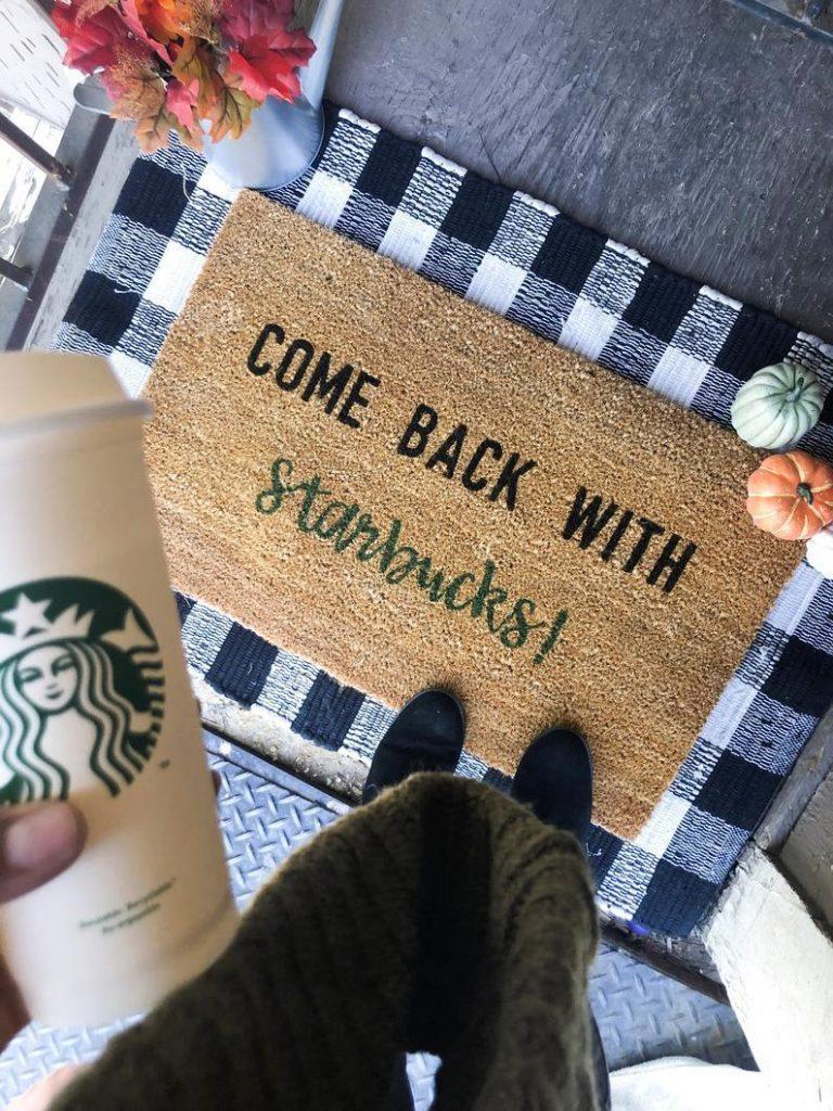 Starbucks doormat gift