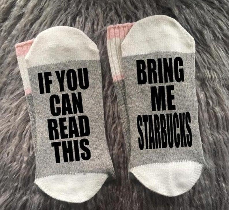 Starbucks funny socks gift