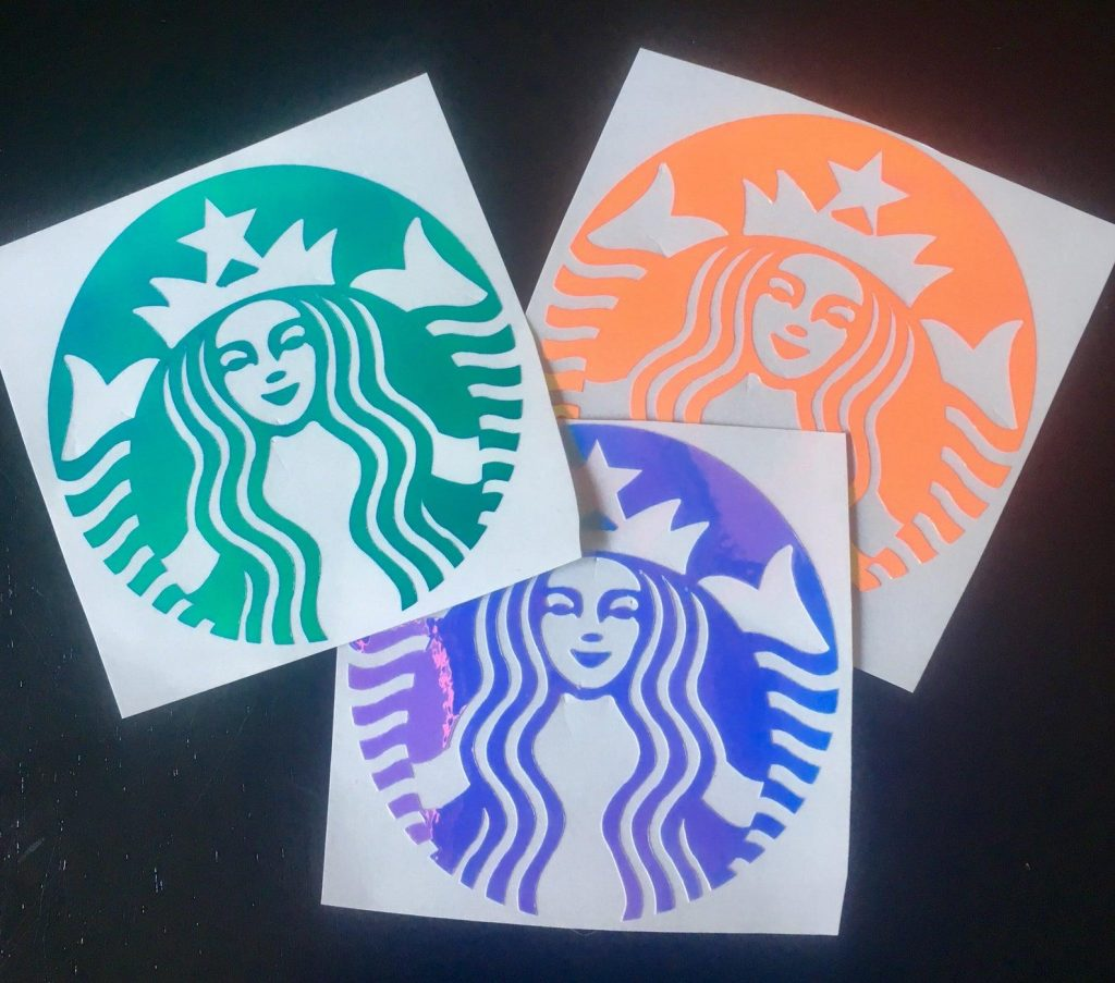 Holographic Starbucks Decal