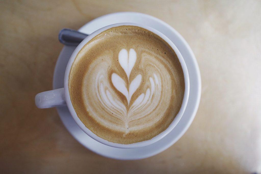 latte art with steamed milk